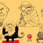 .کاریکاتورهای مازیار بیژنی برای مدرسه نویسندگی